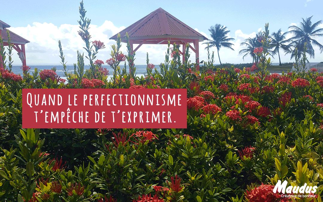 Quand le perfectionnisme t'empêche de t'exprimer.